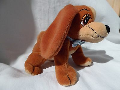 Rare, Disney, Lady and the Tramp, 'Lady' Plush Soft Toy, Beanie Promotional Toy.