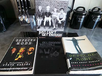 4 pcs Depeche Mode Books.