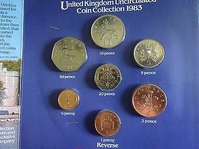 1983 ROYAL MINT Uncirculated Coin Collection In Presentation Pack From Heinz