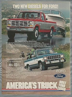 1982 FORD F-250 pickup advertisement, Ford F250 & Ranger ad