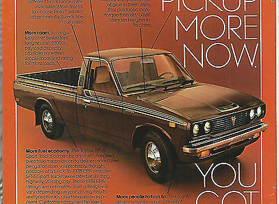 1978 TOYOTA SR-5 Pickup advertisement, Toyota SR 5 ad, Long-bed pickup truck