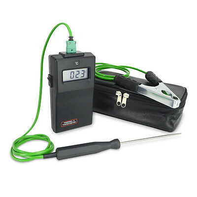 Plumber / HVAC Thermometer Kit includes two Temperature Probes ( Pipe & Water )