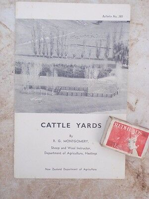 1957 Cattle Yard  designs  illustrated booklet 40 pages