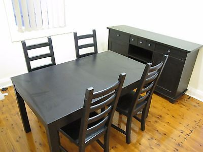 Ikea extendable dining table and chair set for Dining table set ikea usa
