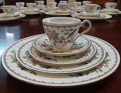 AYNSLEY PEMBROKE Gold 5 Pc Place Setting 12 Place Settings Avail Mint Condition