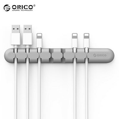 Gray ORICO CBS7 Desktop Cable Organizer Silicone Wire Holder Clip