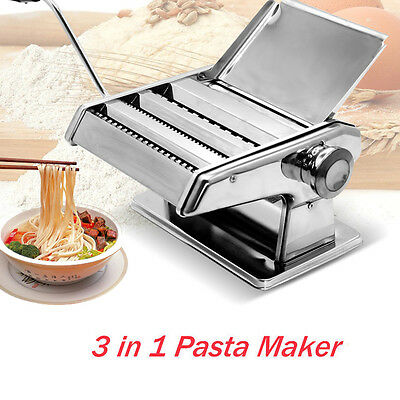 DIY Stainless Fresh Pasta Maker Roller Machine for Spaghetti Noodle Fettuccine
