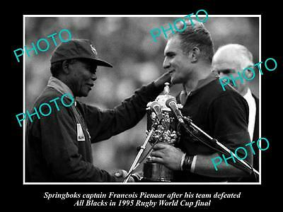 Old Large Photo Of South Africa Winning The 1995 Rugby Union World Cup, Pienaar