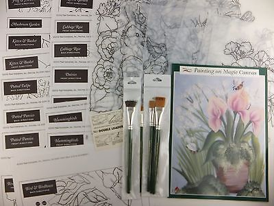 Donna Dewberry One Stroke Painting on Magic Canvas Kit plus Brushes