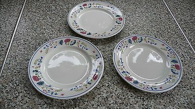 BHS PRIORY side plates x 3 British Home Stores