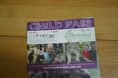 Featherdale Wildlife Park Child Ticket - Free entry pass - 7 available, discount