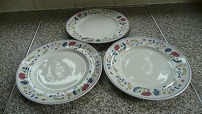 BHS PRIORY dinner plates x 3 British Home Stores