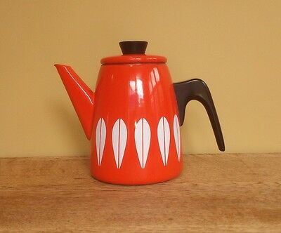 vintage cathrine catherine Holm enamel ware stove top coffee pot teapot retro