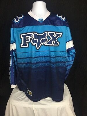 Fox Racing Fx Vintage Cotton Motorcycle Jersey Mens Xl Motocross Dirt Bike Ahrma