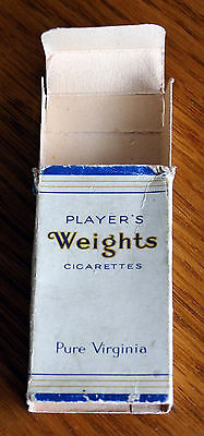 Vintage Player's Weights 10 Cigarette Packet