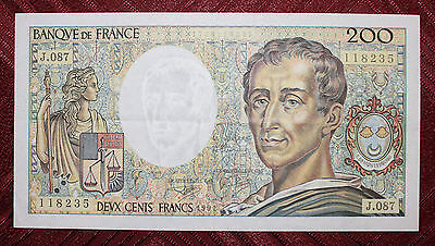 Billet 200 Francs Montesquieu 1991 TTB (Lot LB223)