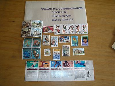 1992 UNITED STATES Stamps - Selection of 28 MINT NEVER HINGED Face Value $8.51
