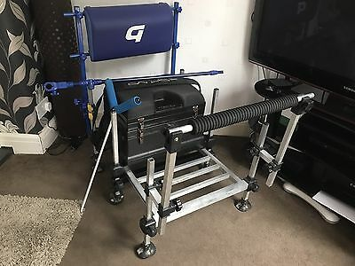Preston Innovations OnBox Pro Match Fishing Seat Box w/ BackRest & Extras