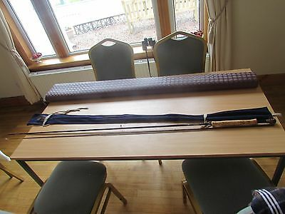 v good vintage hardy graphite deluxe trout fly fishing rod 2 pce 10.5ft 7/8#
