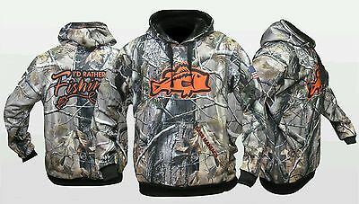 Orange Camo Bass Maniacs Fishing Hoodie Tournament Jersey Upf50