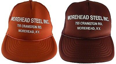 Morehead Steel INC KY Kentucky Snapback Mesh Trucker Cap Hat VTG Lot of 2