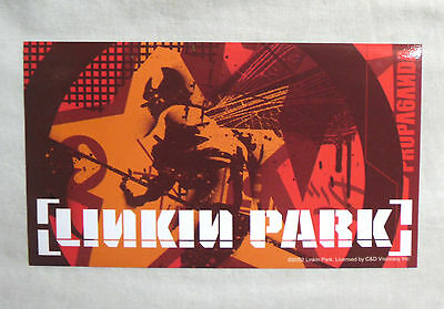 RARE Vinyl STICKER Decal LINKIN PARK Orange Soldier Collage S1724 15cm x 9cm
