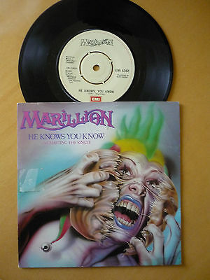 Marillion = He Knows You Know / Charting The Single - 1983 Pic Sleeve - Ex Vinyl