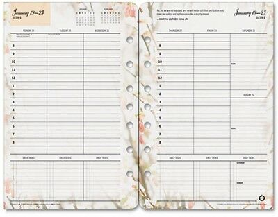 Franklin Covey Blooms Dated Weekly/Monthly Planner Refill, Jan-Dec, 5-1/2' X