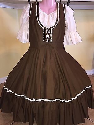 Square Dance 1 Pc Brown Dress - Medium- Blouse Not Included