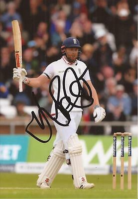 ENGLAND: JONNY BAIRSTOW SIGNED 6x4 TEST ACTION PHOTO+COA