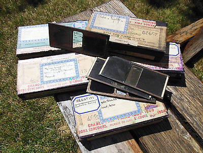 STEREOSCOPE LOT DE 5 BOITES DE VUES STEREO 6x13 NEGATIVES