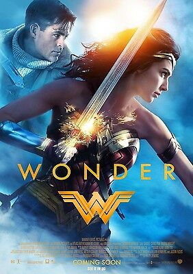 Wonder Woman Gal Gadot Chris Pine 'wonder' Movie Poster A6+A4+A3+Super A3+Framed