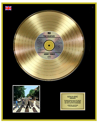 THE BEATLES Ltd Edition CD Gold Disc Record ABBEY ROAD