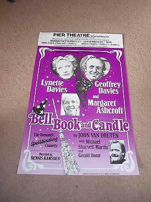0Riginal Poster Bell Book And Candle Pier Theatre Bournemouth 1984