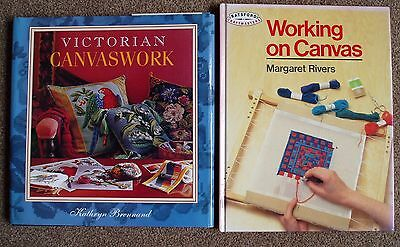 Victorian Canvaswork & Working on Canvas - Hardback Pattern Books - Tapestry