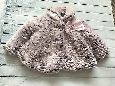 Baby Girls Clothes 0-3  Months - Pretty  Faux Fur  Coat  Jacket