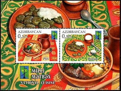 AZERBAIJAN 2016-16 RCC / Space: Traditional Cuisine. Culinary. Food. JOINT, MNH