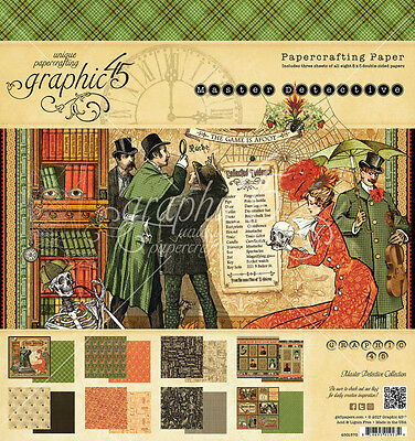 Graphic 45 8x8 Master Detective Paper Pad