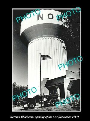 Old Large Historic Photo Of Norman Oklahoma Fire Department Station Opening 1978