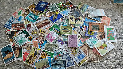 Approx 300 Mixed Central & South American  Stamps Off Paper