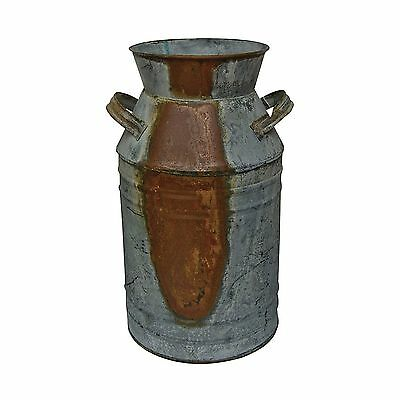 "Milk Can - 10-3/4"" Galvanized Finish - Country Rustic Primitive Jug Vase - NEW"