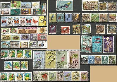 Uganda Selection High Value Part Sets & Gap Fillers Used Thematic Stamps 1028