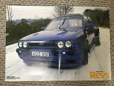 REVS mag poster 1998 - adam laker ford escort rs turbo / Cool places to be seen