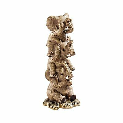 Design Toscano The Hear-No See-No Speak-No Evil Elephants in Natural Single