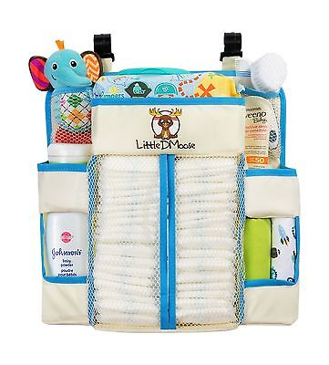 Little DMoose Baby Nursery Organizer and Diaper Caddy with Plastic Back Suppo...