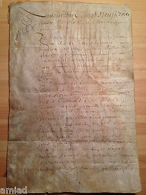 1667 Letter Written on Leather, untranslated. 5 pages.