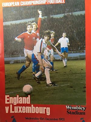 ENGLAND v LUXEMBOURG - DECEMBER 15th 1982 - ECQ