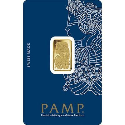 PAMP SUISSE Lady Fortuna 5g (gram) Gold Bar .9999 PURE