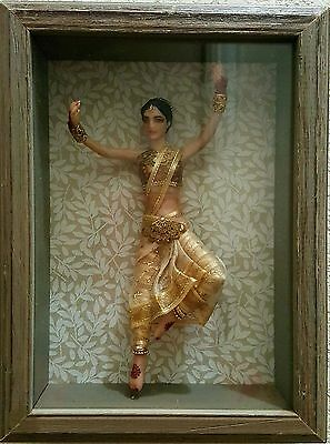 Artist-made One-of-a-kind Dancing Indian Princess Doll in Shadowbox