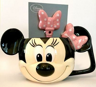 Disney Parks Minnie Mouse Mug and Spoon Set NEW
